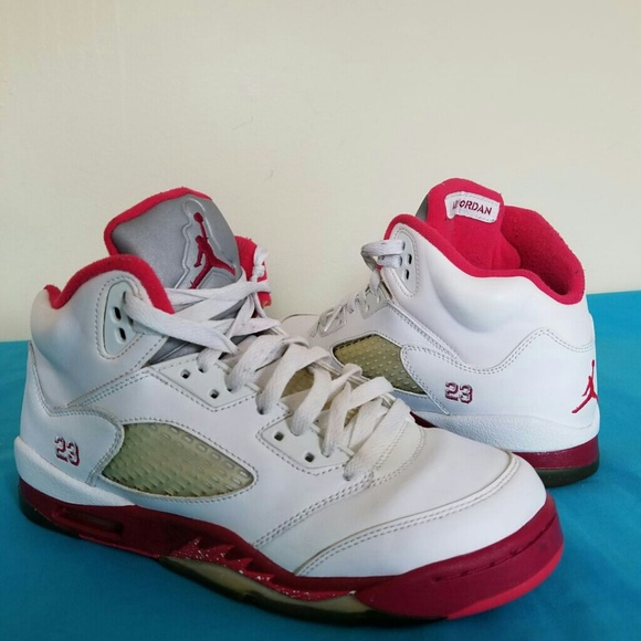 check out 22d37 a8e32 purchase nike air jordan 5 retro red white size 6.5 men 9b212 523d4